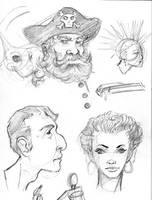 Head doodles by gravyboy