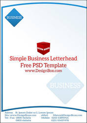 Simple Business Letterhead Free PSD Template by mansy-graphics