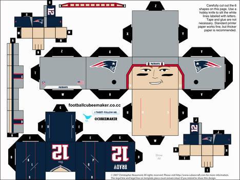 Tom Brady Patriots Cubee by etchings13