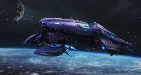 Alien-ship v1 by AKIRAwrong