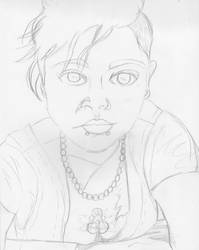 Selfie in pencil by MyThoughtsAreDeep