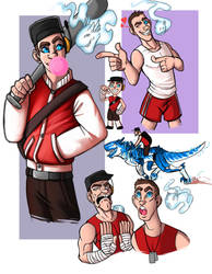 Scout and Strike doodles by DeathRage22