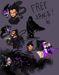 Nightmare Vegeta and Dealilus Ref stuff by DeathRage22