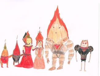 AT - Fire family by t1m3fr3ak