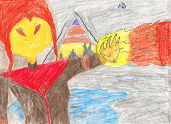 Flame Princess concept art by t1m3fr3ak