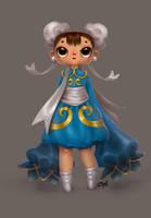 Tiny Chun-Li by cynthiafranca