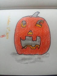 pumpkin smiling and winking by Dragon21Studios