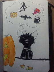 Excited for Halloween  by Dragon21Studios