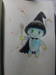 Green-eyed Chao Witch by Dragon21Studios