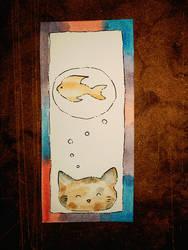 A watercolour bookmarker by Dragon21Studios