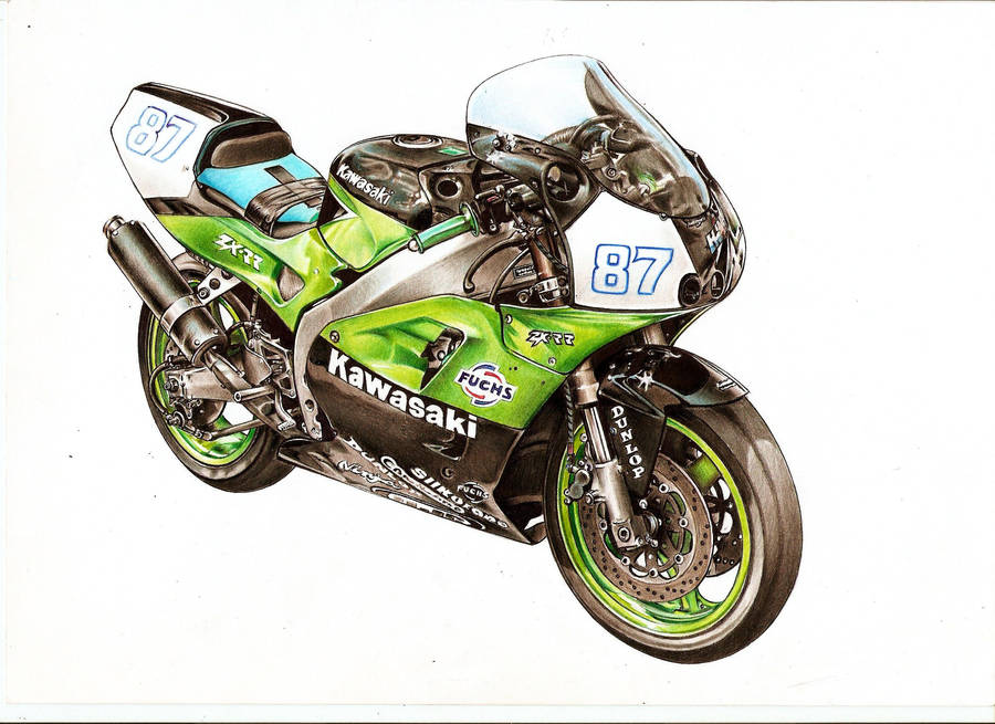 Kawasaki Zxr400 Drawing By Dzsyna96 On Deviantart