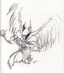 Hawkman Sketch by aliby422