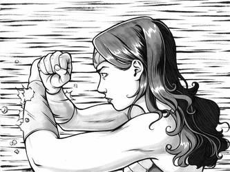 Wonder Woman Grace Under Fire by Tallychyck