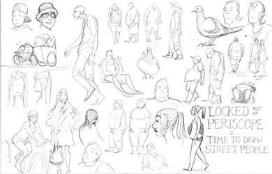 Street People Sketches by Tallychyck