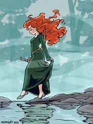 Brave Merida by Tallychyck