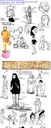 September 2013 sketches by Tallychyck
