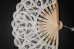 Lace fan by Cat-in-the-Stock