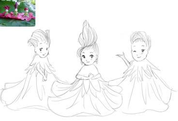 Flower Girls by SugarStarAquaria