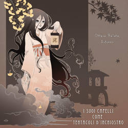 I suoi capelli come tentacoli di inchiostro COVER by blackBanshee80