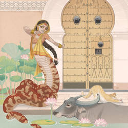 Naga, loto e bufali d'acqua by blackBanshee80