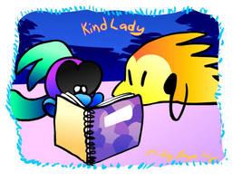 Kind Lady - title card by jazaaboo