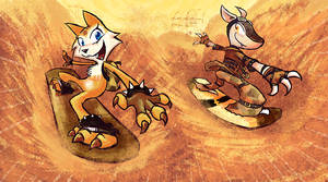 Sand Shredders! by jazaaboo