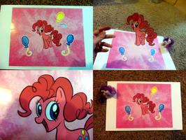Pinkie Pie Animation Cel by jazaaboo