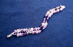 Purple Fluorite Sparkle Bracelet by Key-Kingdom