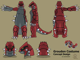 Groudon Costume Concept by CanineHybrid