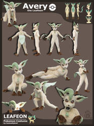 Leafeon Costume -2009 by CanineHybrid
