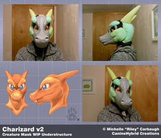 Charizard v2: WIP Mask Understructure by CanineHybrid