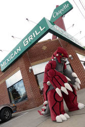 Hungry Dinosaurs Love Chipotle by CanineHybrid