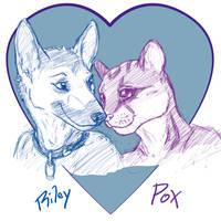 Riley + PoX = :3 by CanineHybrid
