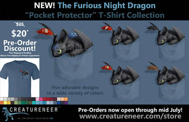 PRE-ORDER: Furious Night Dragon 'Pocket Protector' by CanineHybrid