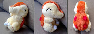 mini shiny cyndaquil plush by LRK-Creations