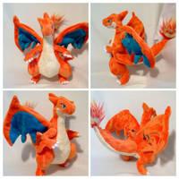 Mega Charizard plush by LRK-Creations