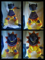HUGE heliolisk plush by LRK-Creations