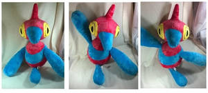 1:1 scale porygon Z plush by LRK-Creations