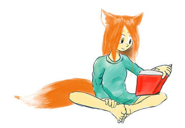 Fox girl (request) by AsClearAsCrystal
