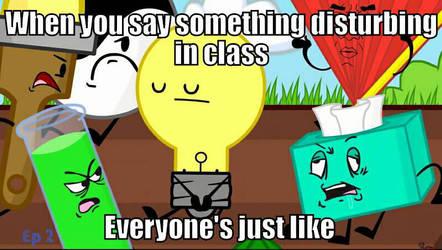 Saying Something Disturbing In Class by EmeraldZone