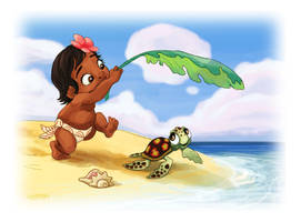 Moana and her Turtle by AriellaMay