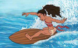 Moana Surfs by AriellaMay
