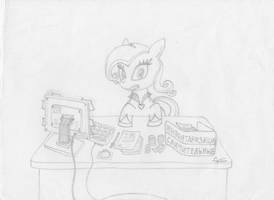 MFOEF - Rarity Becomes Accountant by Imaflashdemon