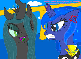 Luna Hates Chrysalis (Coloured) by Imaflashdemon
