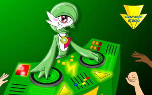 DJ Gardevoir Has A Party Tonight (coloured) by Imaflashdemon