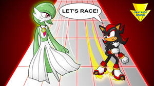 Gardevoir Vs Shadow - Let's Race! (coloured) by Imaflashdemon