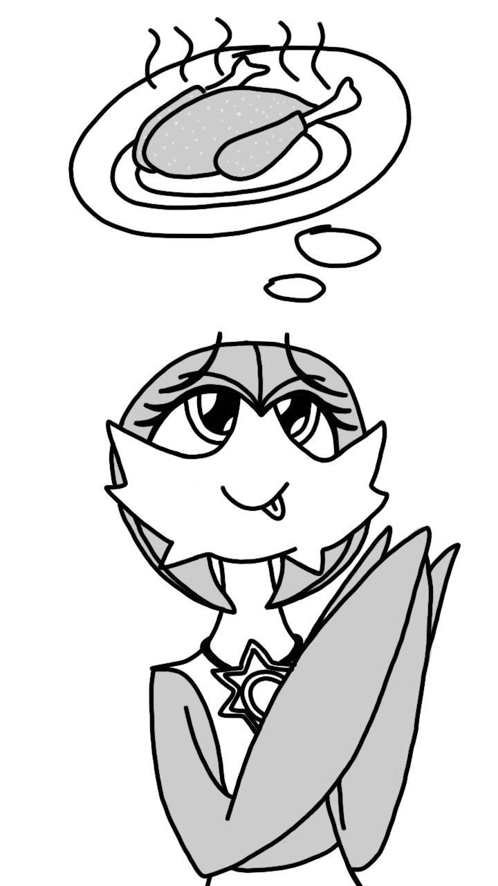 Gardevoir Wants Chicken (sketch) by Imaflashdemon