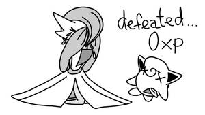 Gardevoir Is Crying Above Jigglypuff (sketch) by Imaflashdemon