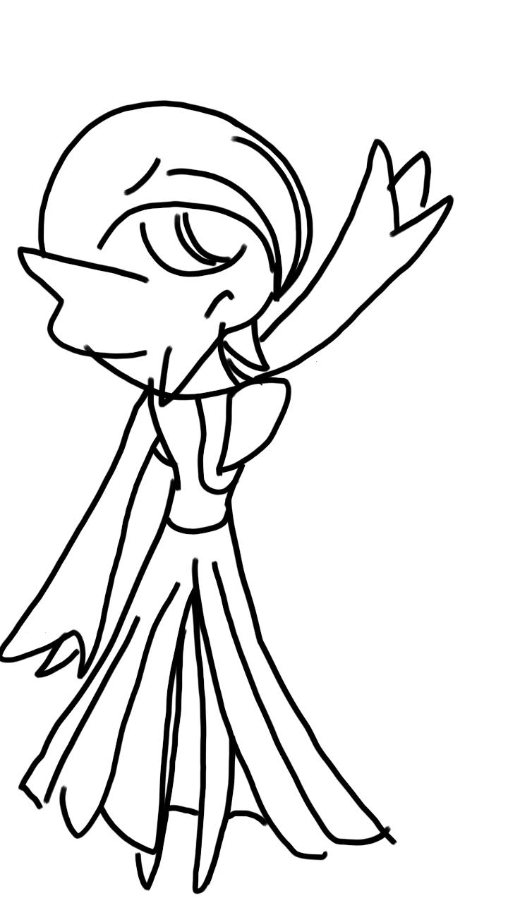 Don't Leave Gardevoir (sketch) by Imaflashdemon