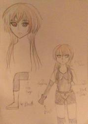 Anzu Color Sketch 2 by R3dArkang3l
